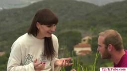 TS Natalie Mars does honeymoon anal sex