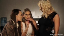 Tiffany Tatum & Victoria Pure & Blue Angel - Colleagues Friendship Ends Up Groping