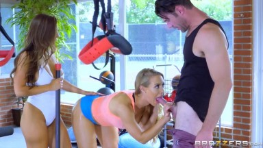 Abigail Mac and Nicole Aniston - Gym And Sex