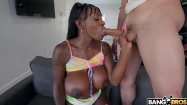 Ebony Mystique - Squirting Step Mom