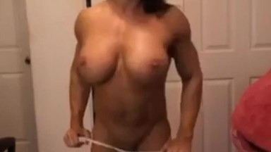 Big muscle boobs and big clit