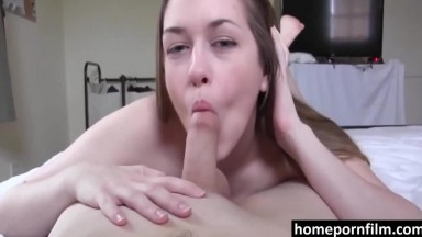 Creampie For A Beautiful Brunette Who Is Enjoying Sex HPF