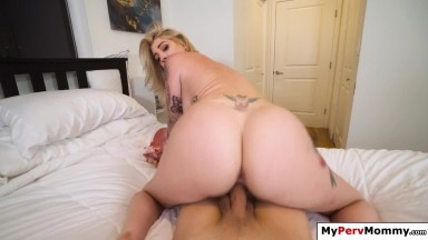 Milf blowjobs and fucks stepson as gift