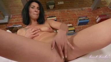 Eva Short - Flower Skirt And Black Panties Masturbation